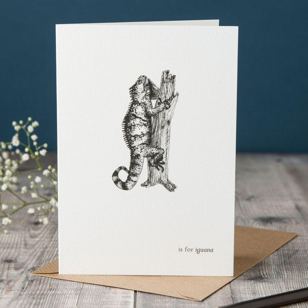 I is for Iguana Card-Lucy Coggle