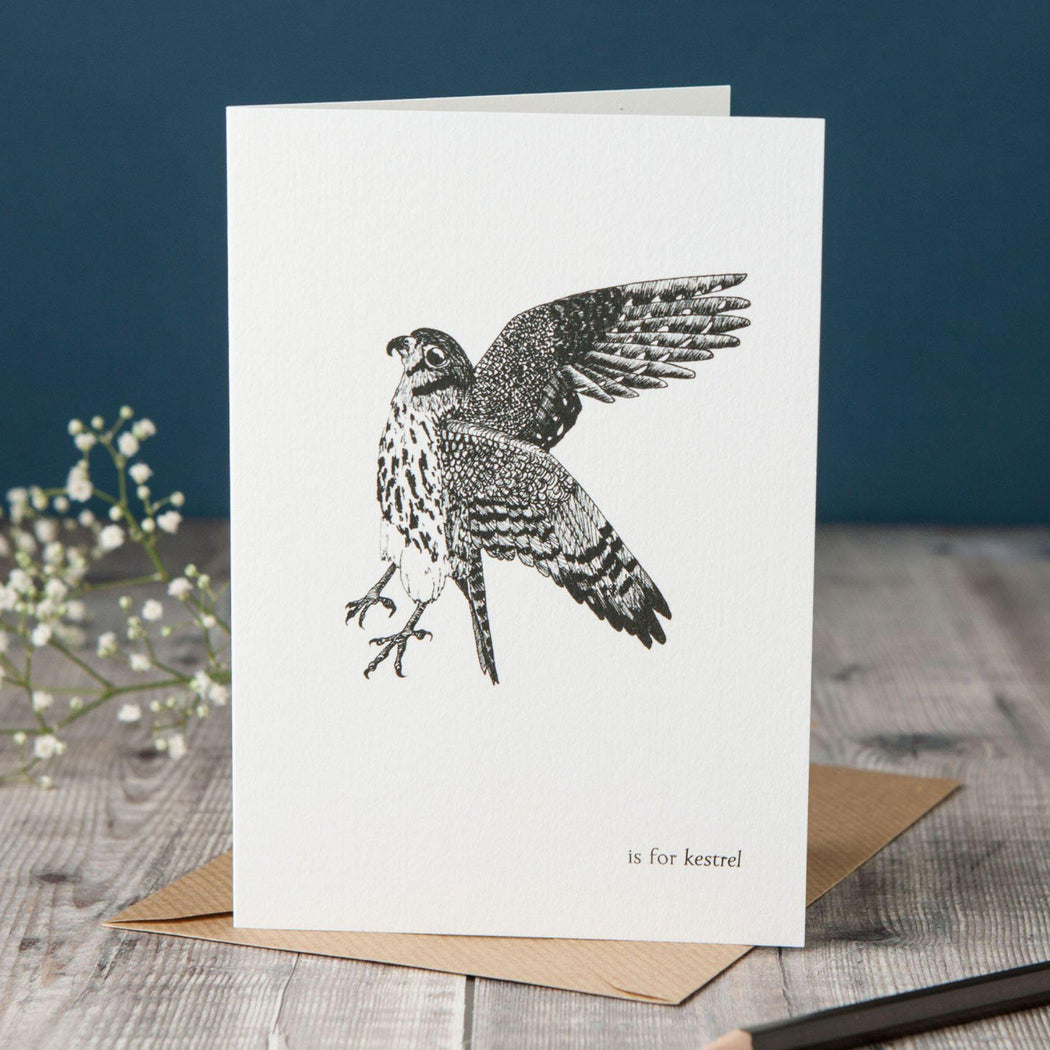 K is for Kestrel Card-Lucy Coggle