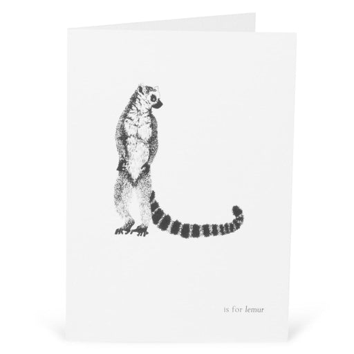 L is for Lemur Card-Lucy Coggle