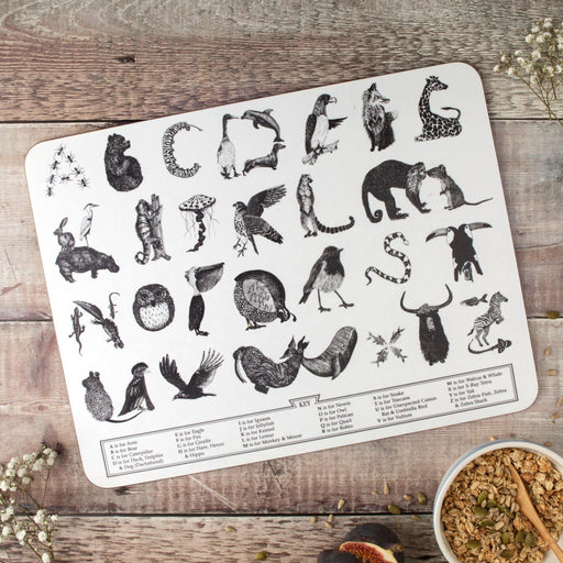 Large Animal Alphabet Children's Placemat-Lucy Coggle
