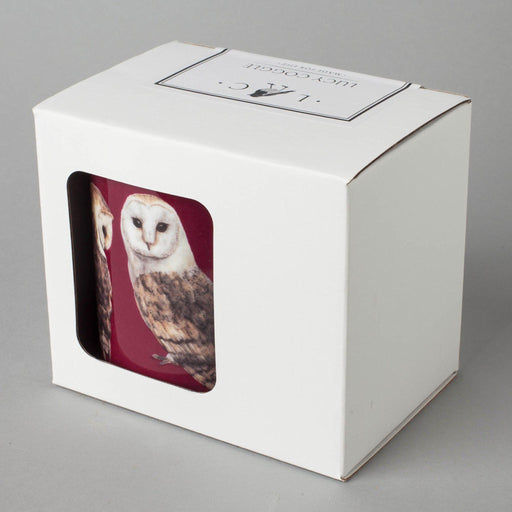 Large Bone China Barn Owl Mug-Lucy Coggle