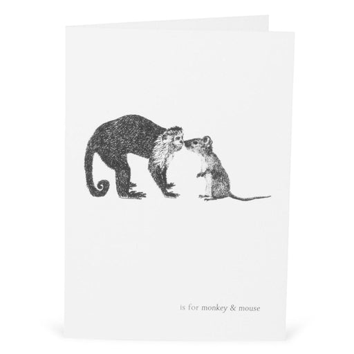 M is for Monkey & Mouse Card-Lucy Coggle