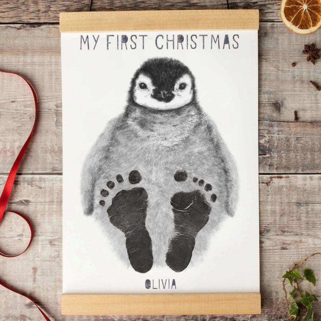 My First Christmas Personalised Baby Footprint Kit-Lucy Coggle