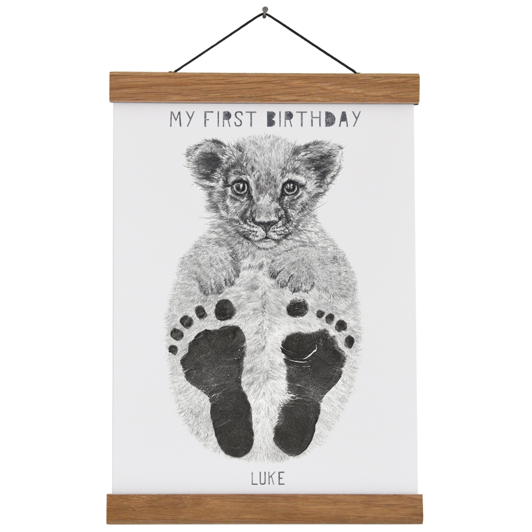 My First Birthday Personalised Baby Footprint Kit
