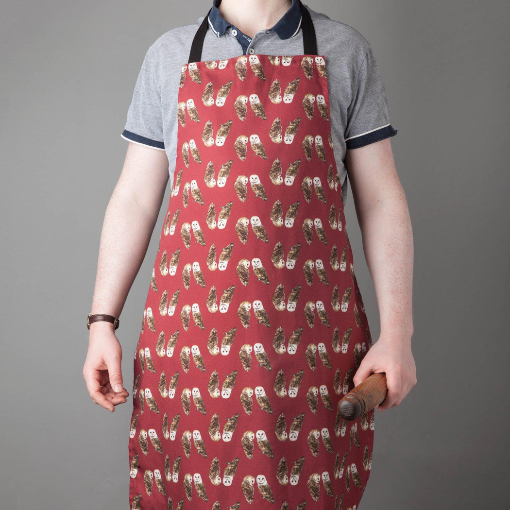 Pair of Barn Owls Apron-Lucy Coggle