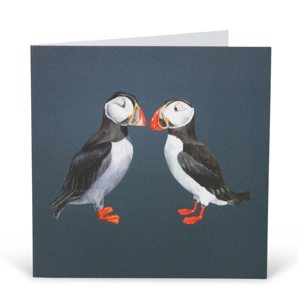 Pair of Puffins Card-Lucy Coggle