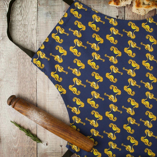 Pair of Seahorses Apron-Lucy Coggle