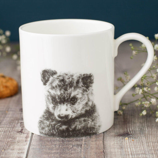Peeping Bear Bone China Mug-Lucy Coggle