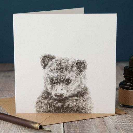 Peeping Bear Card-Lucy Coggle