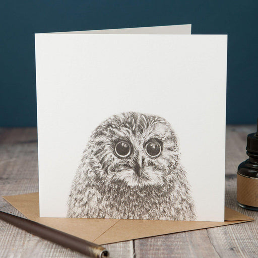 Peeping Owl Card-Lucy Coggle