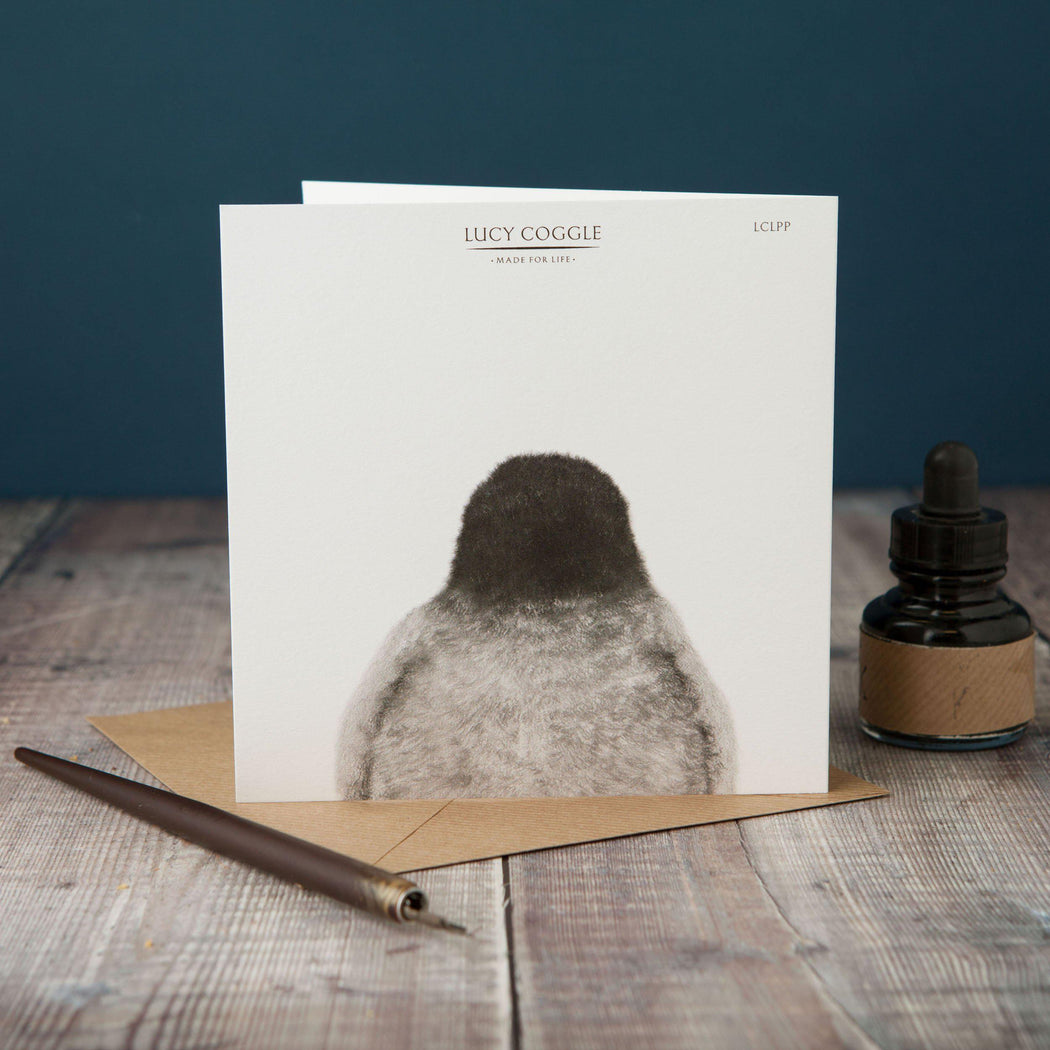 Peeping Penguin Card-Lucy Coggle