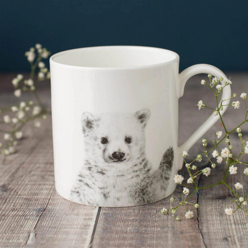 Peeping Polar Bear Bone China Mug-Lucy Coggle