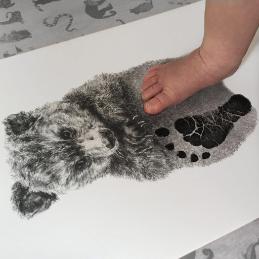 Personalised Baby Bear Footprint Kit-Lucy Coggle