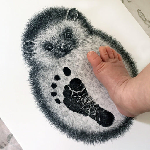 Personalised Baby Hedgehog Footprint Kit-Lucy Coggle
