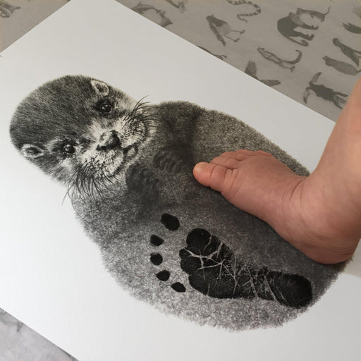 Personalised Baby Otter Footprint Kit-Lucy Coggle