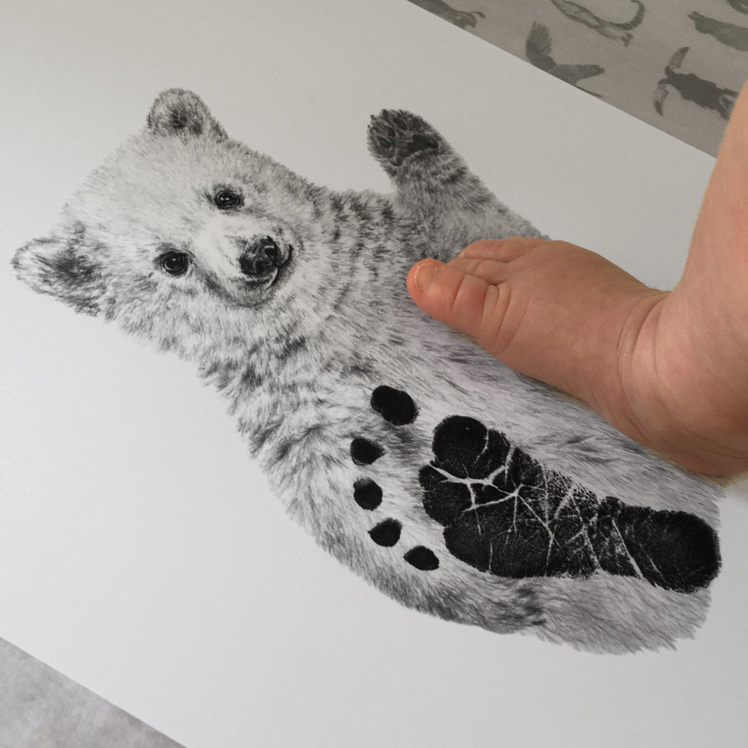 Personalised Baby Polar Bear Footprint Kit-Lucy Coggle