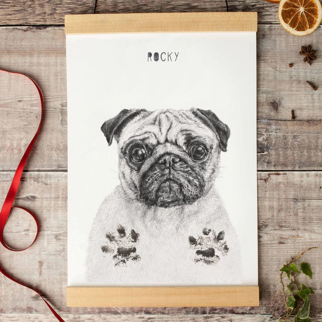 Personalised Dog Paw Print Picture Kit-Lucy Coggle