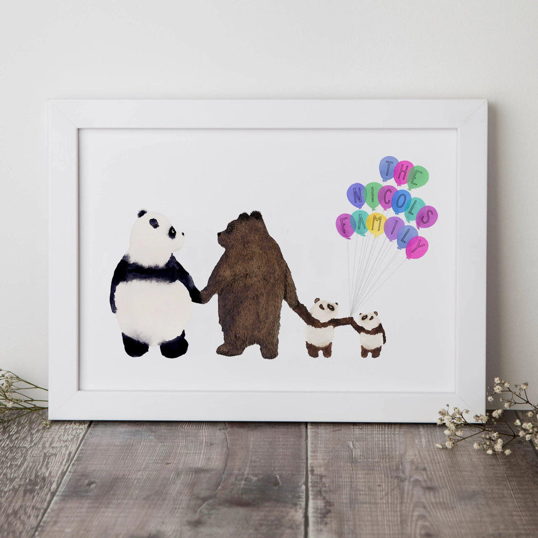 Personalised Family Of Bears Print-Lucy Coggle