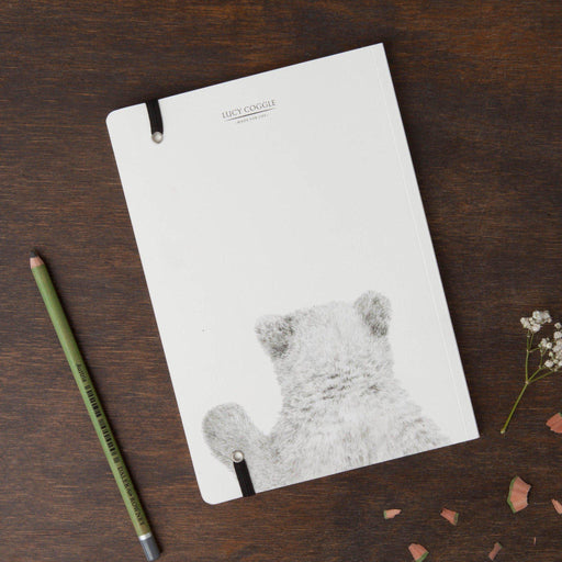 Polar Bear Round Cornered Notebook-Lucy Coggle