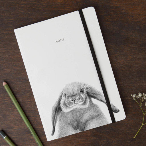 Rabbit Round Cornered Notebook-Lucy Coggle