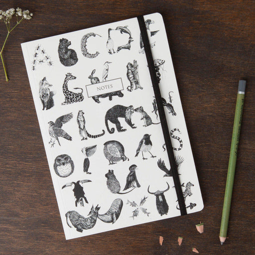 Round Cornered Animal Alphabet Notebook-Lucy Coggle