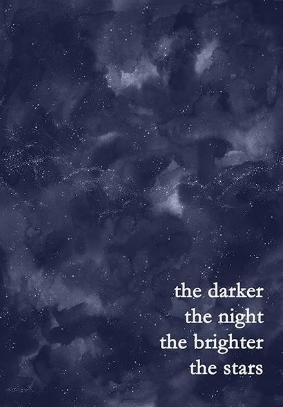 'The Darker the Night' Star Print-Lucy Coggle