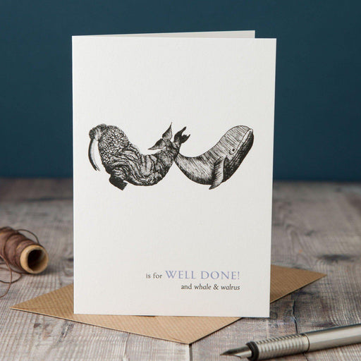 W is for Well Done! Card-Lucy Coggle