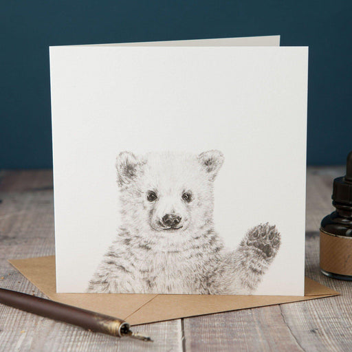 Waving Polar Bear Card-Lucy Coggle