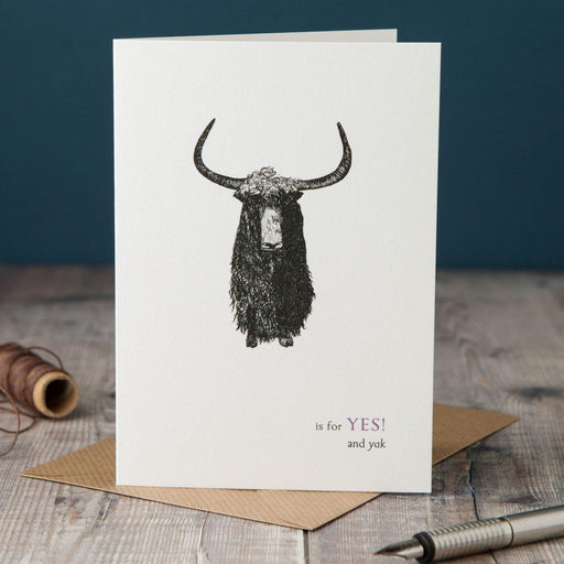 Y is for Yes Card-Lucy Coggle