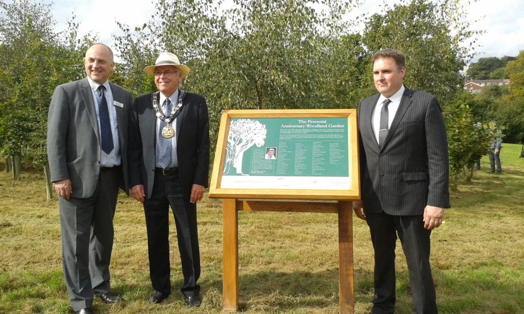 Perennial Anniversary Woodland Garden officially opened at Dunorlan Park
