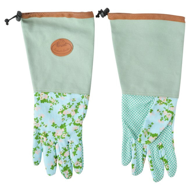 Long, Rose Design Gloves