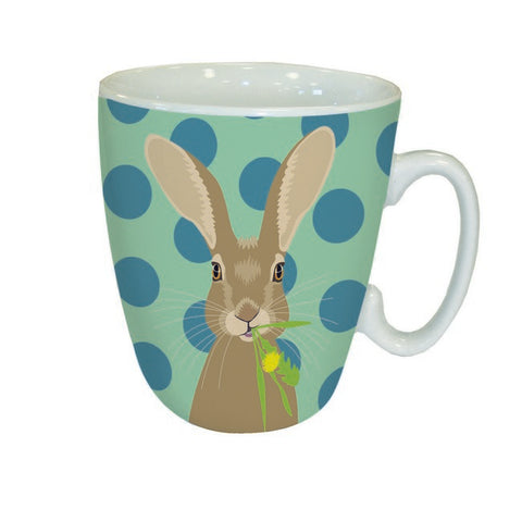 Hare and Spots Animal Mug