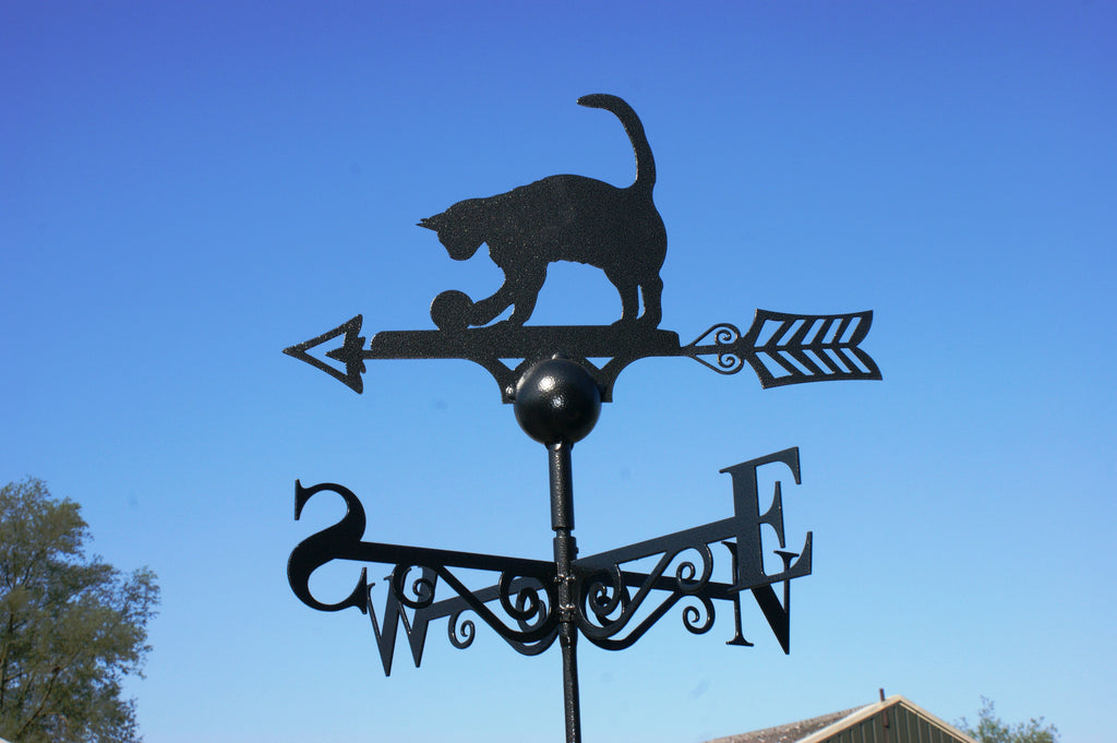 Cat and Ball Weather Vane