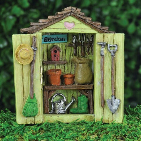 Fiddlehead Miniature Fairy Garden Shed
