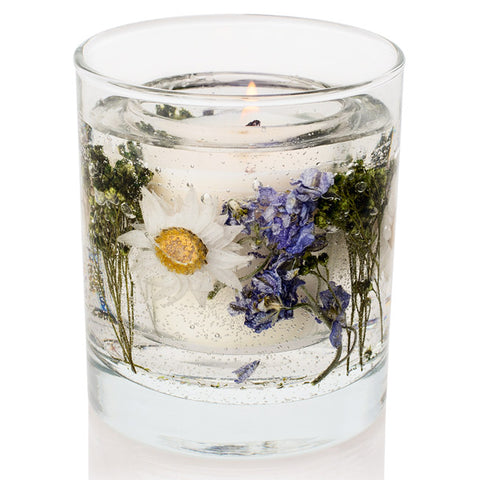 'Moonflower and Lilac' Stoneglow Gel Tumbler Candle