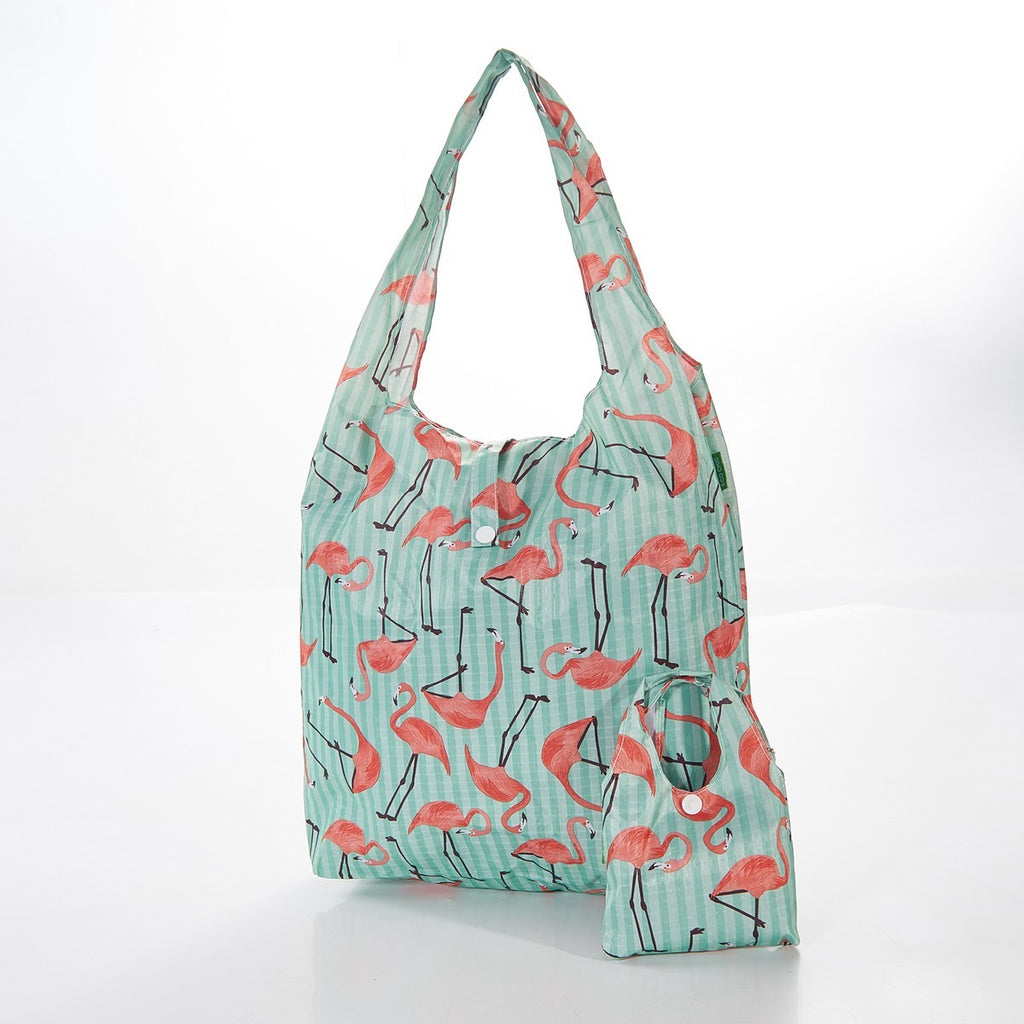 Flamingo Foldable Shopper