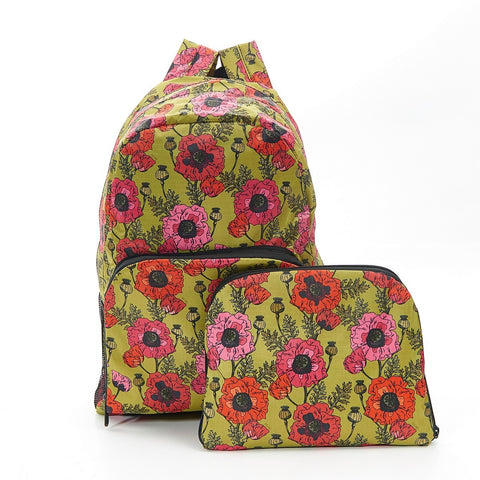 Yellow Poppies Foldable Backpack