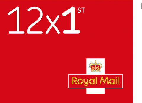 Royal Mail 1st Class Stamps x 12