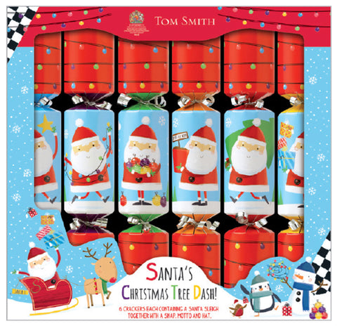 Santa's Christmas Tree Dash Christmas Crackers