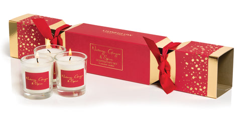 'Nutmeg & Ginger' Stoneglow Candles Cracker Gift Set