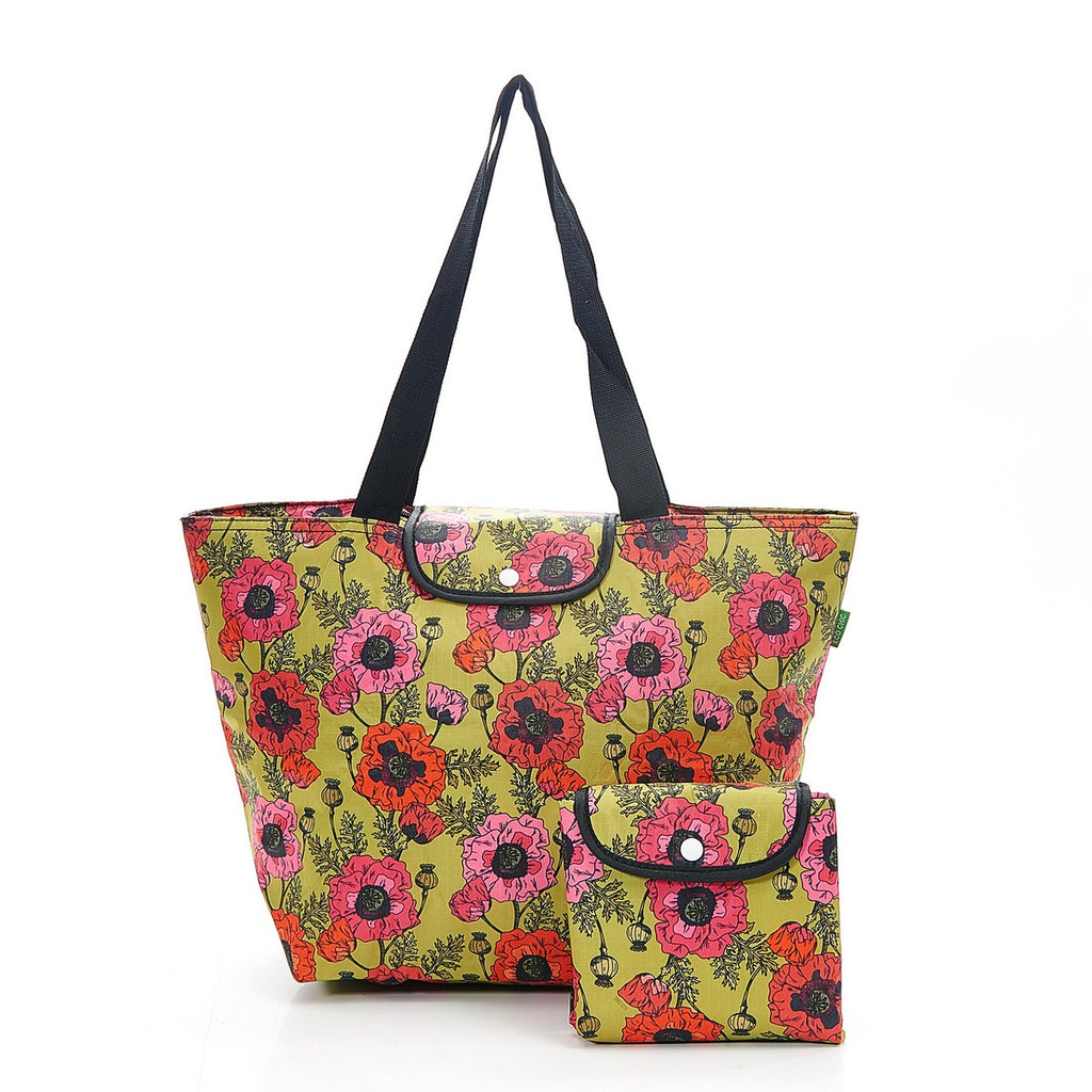 Yellow Poppies Foldable Large Cool Bag