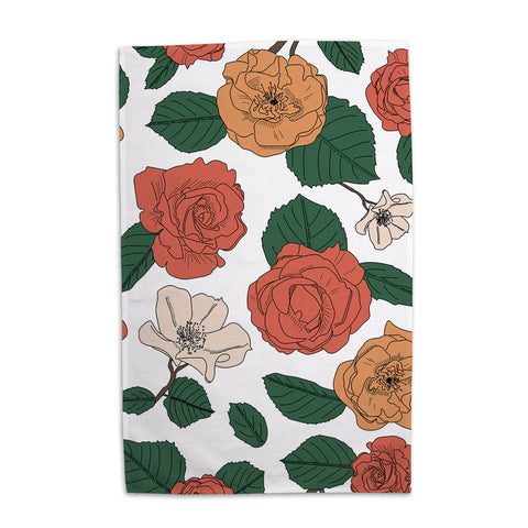 Perennial  - Rose Tea Towel