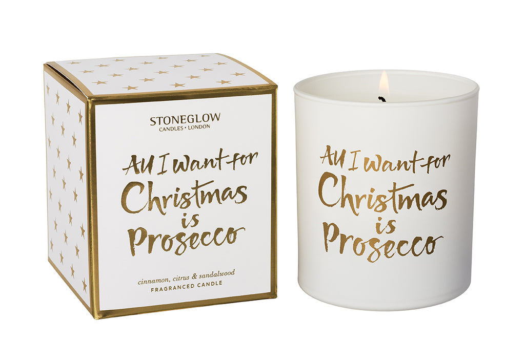 All I want for Christmas is Prosecco Candle