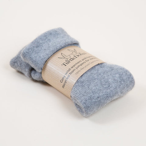 Turtle Doves Grey Cashmere Fingerless Gloves