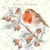 'Seasons Tweetings' Single Christmas Card