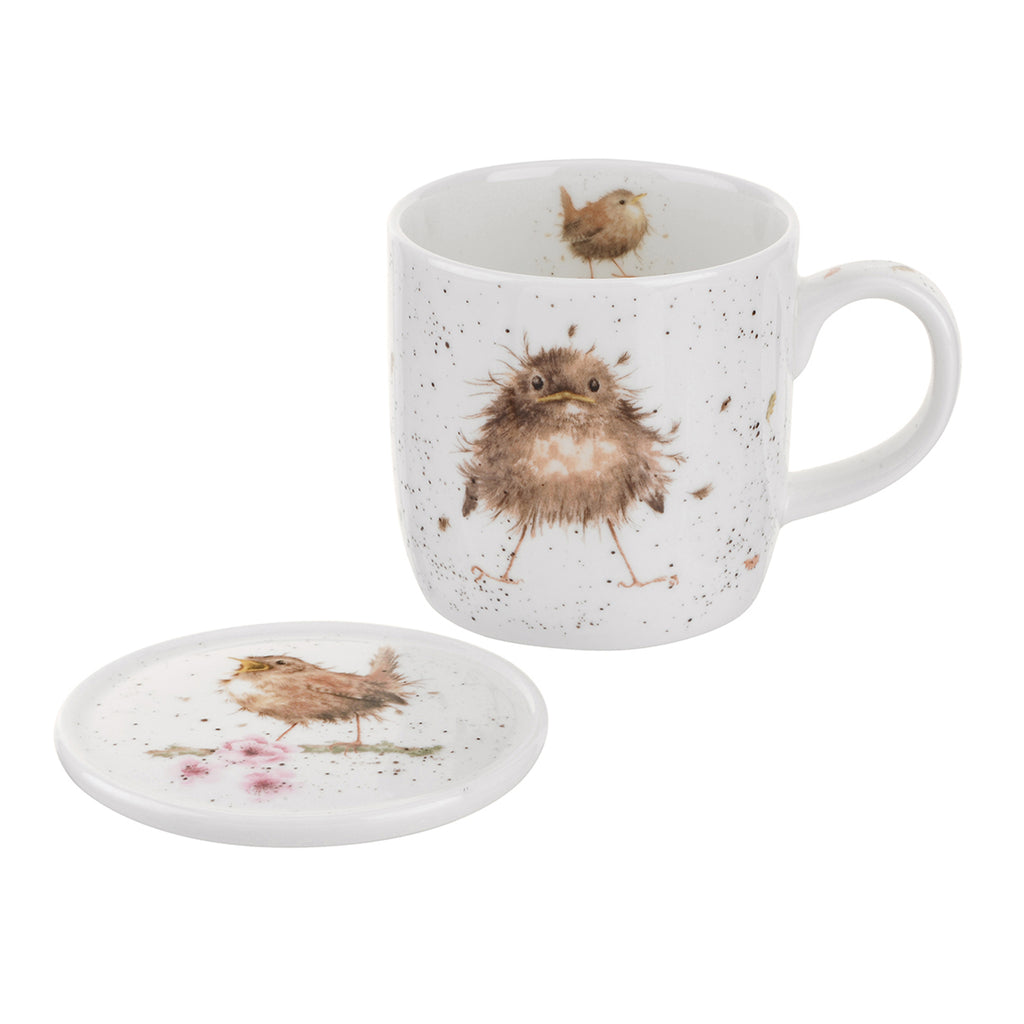 Mug and Coaster 'Flying the Nest'