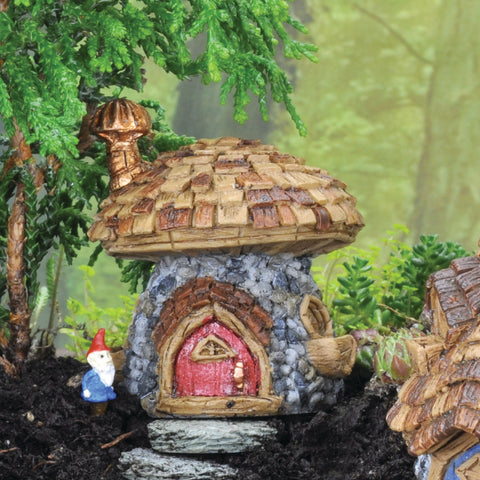 Fiddlehead Wooden Mini Mushroom House