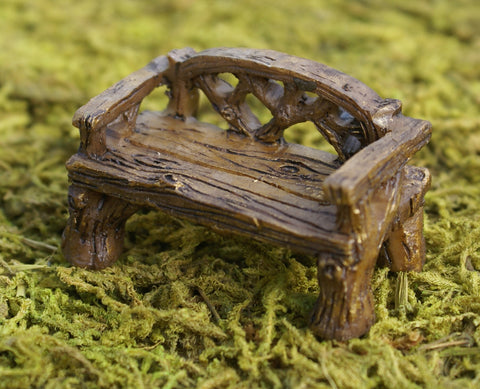 Fiddlehead Woodland Rustic Bench