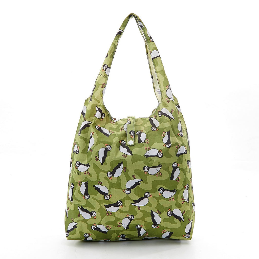 Eco Chic Puffin Foldable Shopper bag