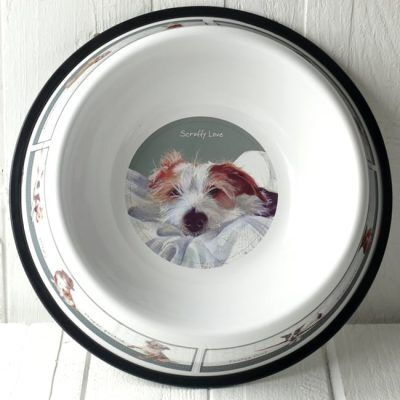 Tin Dog Bowl -  Medium